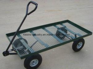 Platform Garden Nursery Cart/Steel Mesh Deck Wagon (TC4206) pictures & photos
