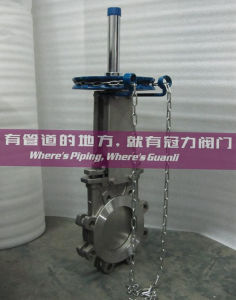 Chain Operation Knife Gate Valve pictures & photos