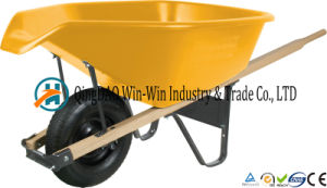Total Control 6 Cubic Foot Poly Wheelbarrow with pictures & photos