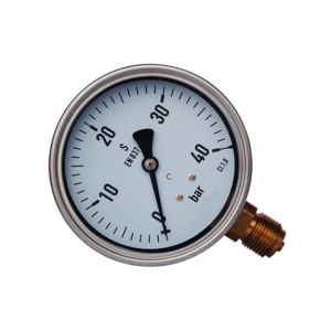 100mm Stainless Steel En837-1 Pressure Gauge Supplier Ce Approved pictures & photos