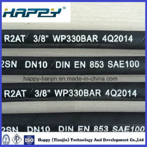 "SAE100 R2 Dn 3/8 ""Hydraulic Wire Braided Rubber Hose pictures & photos"