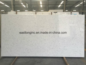 Polished Solid Surface Marble Color Quartz Stone Slab pictures & photos