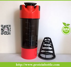 Brand new Plastic Protein Shaker Bottle with Filter pictures & photos