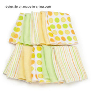 Promotional Knitted Cotton Printing Solid Baby Receiving Blanket pictures & photos