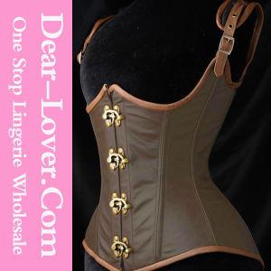 Women Sexy Leather Steel Bone Corset pictures & photos