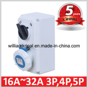 IP67 16A 2p+E Interlocked Switched Socket pictures & photos
