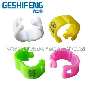 3mm 4mm 4.5mm 5mm Plastic Split Bird Leg Bands, Finch Leg Bands (GSF-PBR-O)