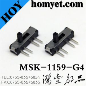 China Manufacturer Slide Switch with 4pin Feet (MSK-1159-G4) pictures & photos