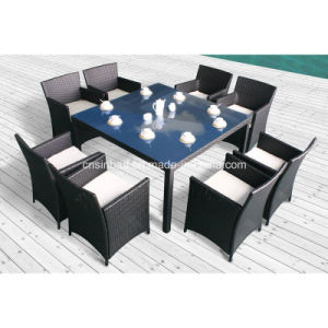 Rattan Dining Furniture for Outdoor with 8 Kd Chairs / SGS (8215KD) pictures & photos