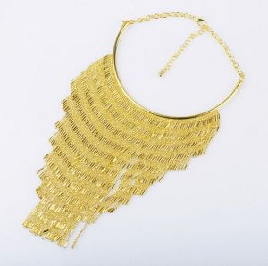 Gold Plated Chain Tassel Fashion Necklace (XJW13694) pictures & photos
