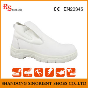 White Fiber Leather Steel Toe Cleanroom Safety Shoes Snm601 pictures & photos