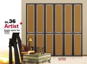 High Quality Morden Design PVC Shutter Series Wardrobe Sliding Door (yg-007) pictures & photos