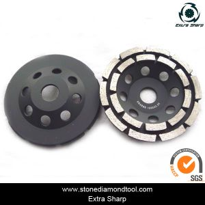 Double Row Concrete Diamond Grinding Cup Wheel for Angle Grinder pictures & photos