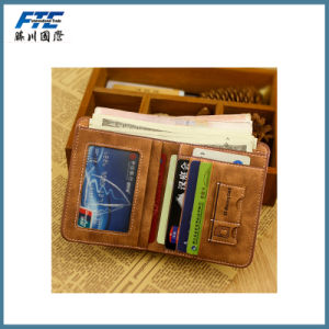 Multifunction PU Leather Fashion Youth Retro Wallet pictures & photos