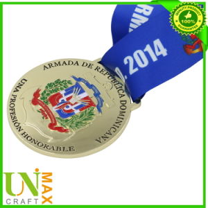 Gold Plated Medal Medallion