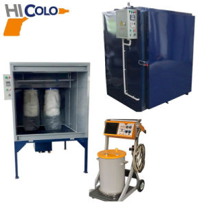 Small Manual Powder Coating System with Curing Oven and Spray Booth pictures & photos