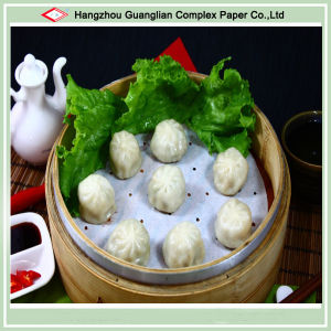 """5.5"""" Silicone Treated Non-Stick Dimsum Paper Steaming Liners for Siopao pictures & photos"""