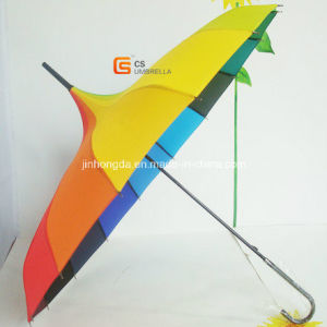 Straight Colorfull Polyester Umbrella Promotional Gift (YS-S002A)