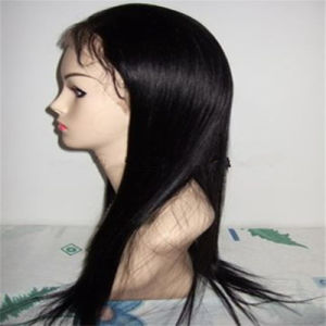 100% Natural Human Hair Straight Natural Color Full Lace Wig pictures & photos