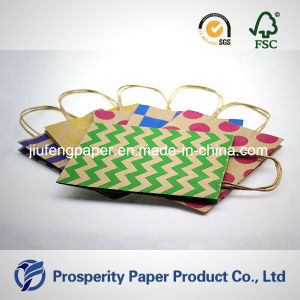 Printed Design Kraft Paper Handbag pictures & photos