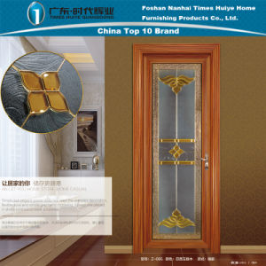 Brazil Jade Sandalwood Bed Room Aluminium Doors with Ornaments pictures & photos