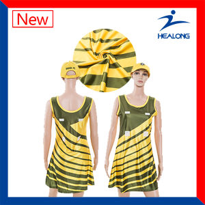 Custom Full Sublimation Girl Sexy Netball Dress pictures & photos