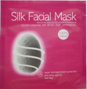 Skin Care Beauty Products OEM Cosmetic Whitening Silk Face Mask with GMP/FDA pictures & photos