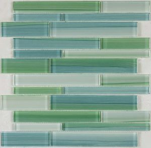 Color Strip Crystal Glass Mosaic Tile (8CSL&N42)