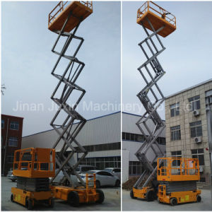 Self Propelled 6-12m Electric Hydraulic Scissor Lift Aerial Work Platform pictures & photos