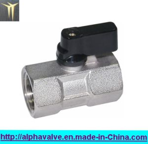 Forged Female Full Bore Mini Ball Valve with Butterfly Handle a. 0127