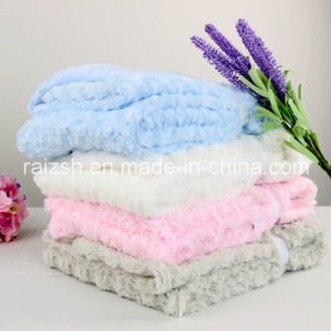 Double-Thick Loop Pile Rose Velvet Blankets Child Blanket pictures & photos