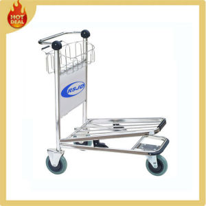 3 Wheels Stainless Steel Hand Brake Airport Trolley (GS2) pictures & photos