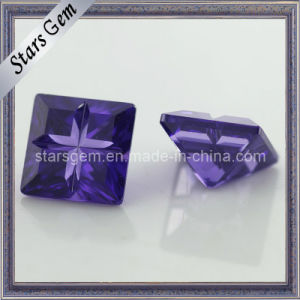 Amethyst Square Shape Special Cut Cubic Zirconia Gemstone pictures & photos