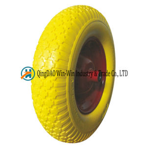 4.00-8 Inflation Free PU Wheel for Construction Hand Truck pictures & photos