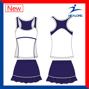 Healong Sportswear Sexy Tennis Clothing Womens Shirts Bodysuit Dresses pictures & photos