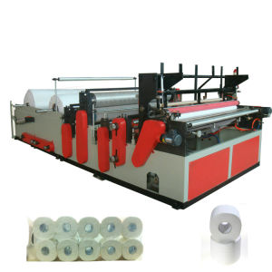 Full Automatic Rewinder Toilet Paper Machine pictures & photos