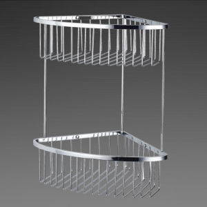 Bathroom Accessories of Chrome Metal Bathroom Shower Basket (SUS304) pictures & photos