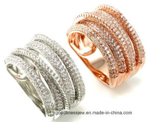 Fashion Style 925 Silver Ring Silver Jewelry with Cubic Zircon (R9551) pictures & photos