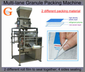 Multi-Lane 4-Side Sealing Detergent Packing Machine (2 roll different film) pictures & photos