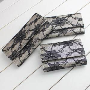 Sleek PU Wallet & Lace Decorated Wallet (E13087)