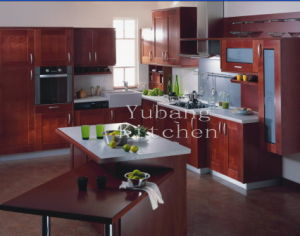 Stain Grade Cherry Kit Hen Solid Wood Kitchen Cabinet #221 pictures & photos