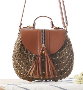 a09b199cf97d China Factory Sale Latest Long Leather Strap Straw Small Crossbody .