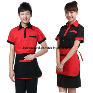 Cotton Waiter Uniform, Restaurant Workwear (LA-BS34) pictures & photos