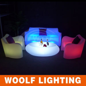 More 300 Designs LED Lighting PE Plastic Furniture LED Bar Sofa pictures & photos
