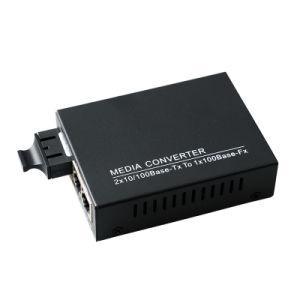 1 Fiber 2 RJ45 Port Optical Fiber Media Converter 100m Sm 20km (MC1001SC) pictures & photos