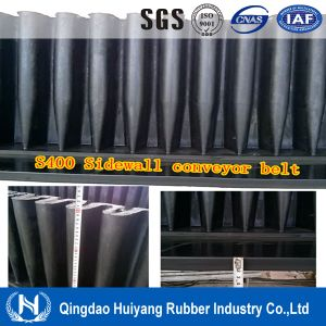 Rubber Cleated S400 High Sidewall Conveyor Belt