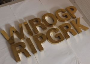 Custom 3D Titanium Fabricated Metal Letters (3D-12) pictures & photos