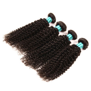 Kinky Curly Lace Frontal Closure with Bundles Brazilian Virgin Hair with Closure Human Hair Weaving 3bundles with Lace Closure pictures & photos