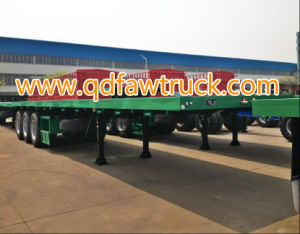40FT Tri-Axle Flatbed Semi Trailer Container Trailer pictures & photos