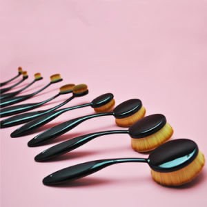 Professional Foundation Brush Oval Brown Long Lasting Toothbrush Makeup Brush Set pictures & photos